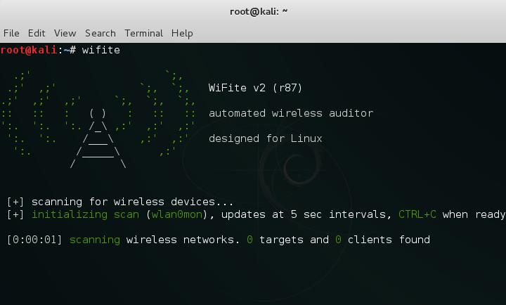 WiFite Kali Linux