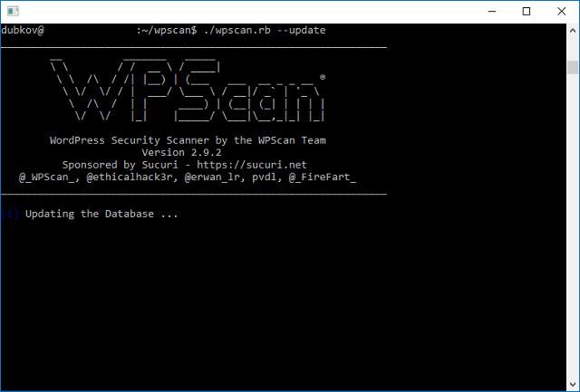 Обновление WPScan