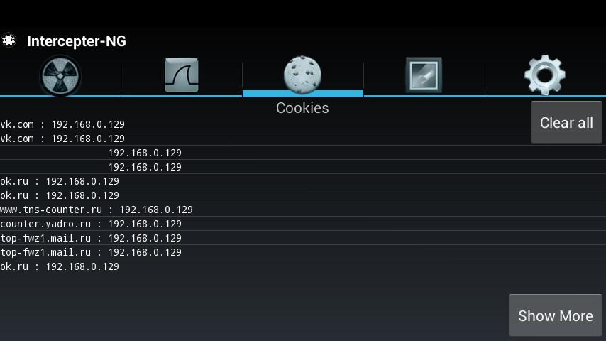 Intercepter-NG Cookie